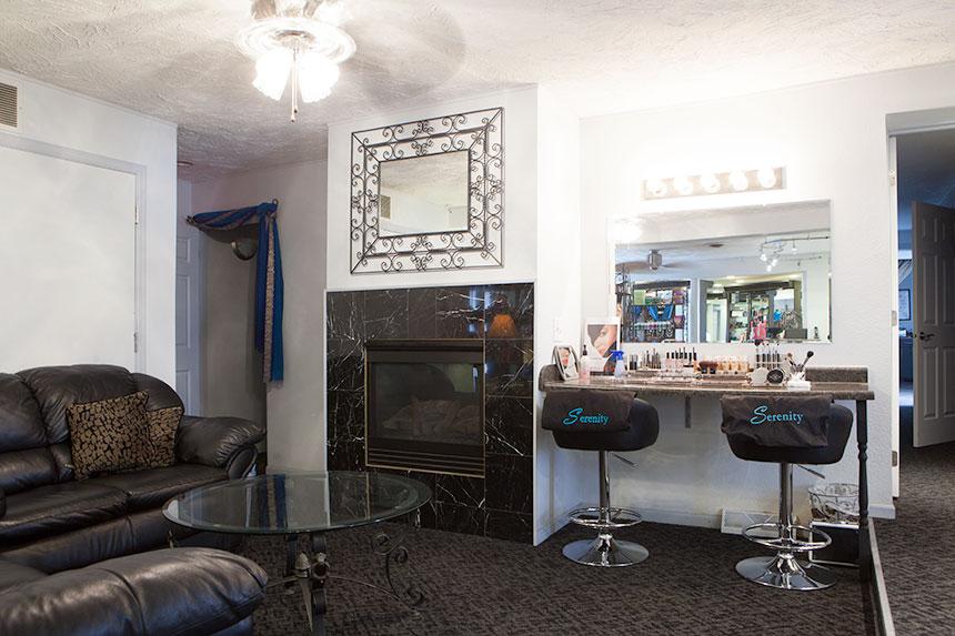 Waiting area & makeup station
